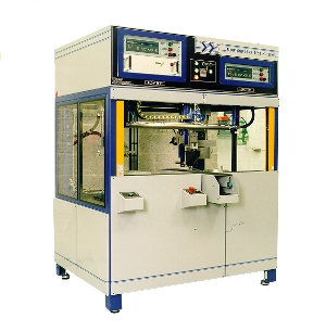 Assembly leak and flow test machine